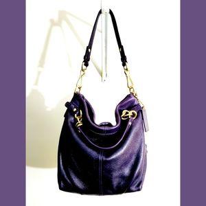 Coach Brook Pebble Purple/Plum Hand/Shoulder Bag